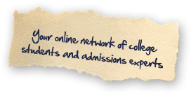 Your online network of college students and admissions counselors